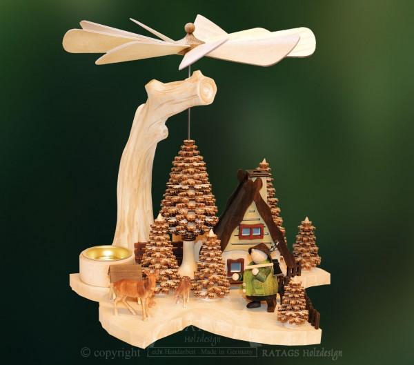 Massivholzpyramide Foerster, Weihnachten, echt Erzgebirge