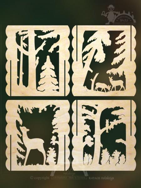 Tischl=E4mpchen Wald zum auss=E4gen, echt Erzgebirge