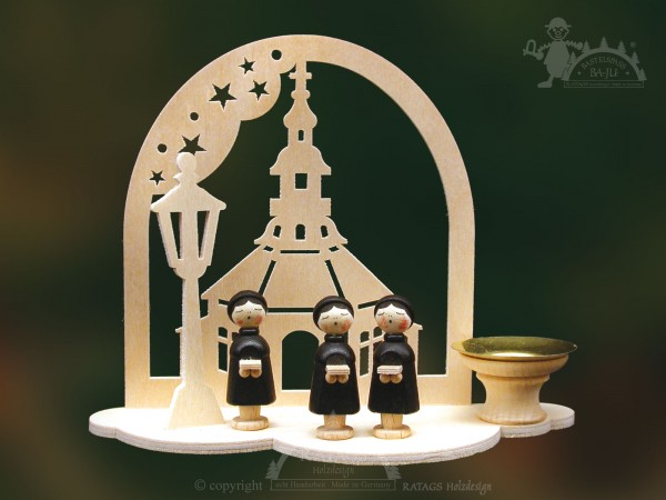 Tischschmuck Seiffener Kirche, Weihnachten, echt Erzgebirge