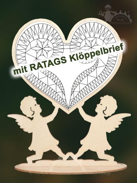 Klöppeln, Engel, Herz, Erzgebirge