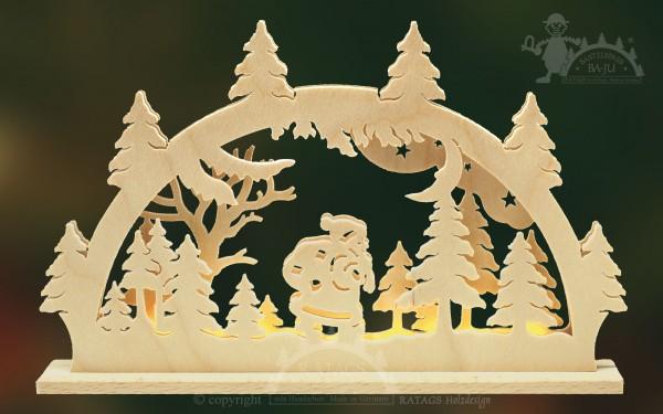 Schwibbogen Knecht Ruprecht, Weihnachten, echt Erzgebirge