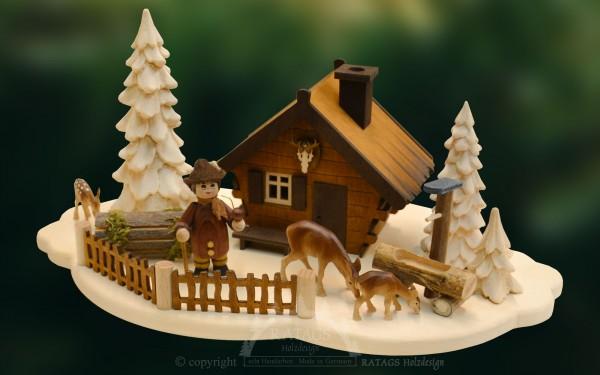 Raeucherhaus Forsthaus, Deko, Weihnachten, echt Erzgebirge
