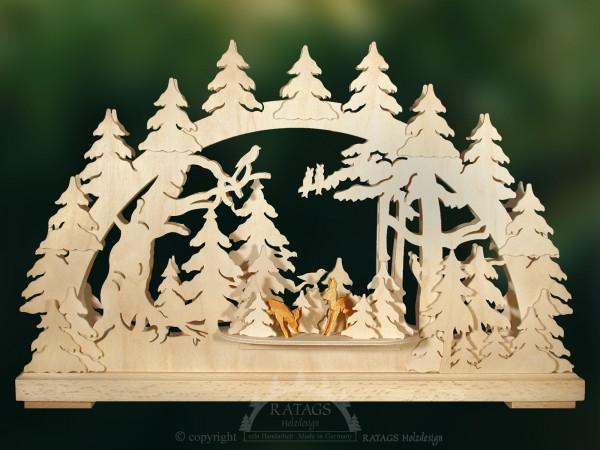 Schwibbogen Rehe im Wald, Weihnachten, echt Erzgebirge