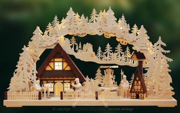 Schwibbogen Tradition Handwerk, Deko, echt Erzgebirge