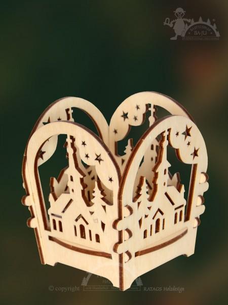 Tischschmuck Waldkirche, Deko Weihnachten, echt Erzgebirge