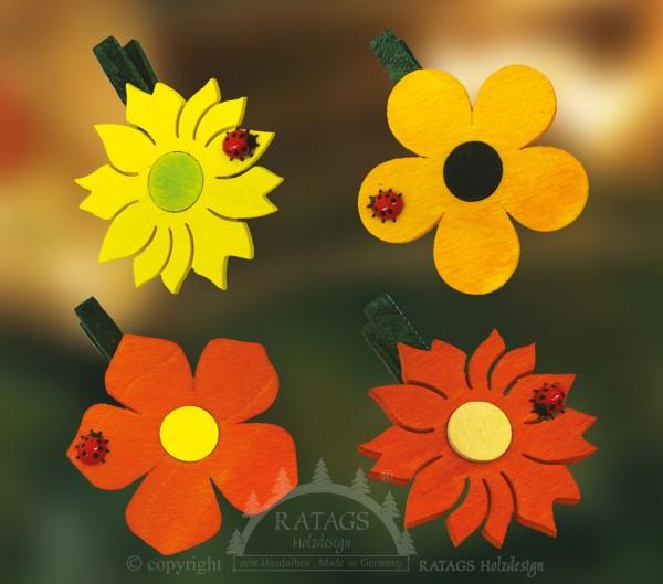 Ansteckklammer, Deko, Blume, echt Erzgebirge, Farbverlauf