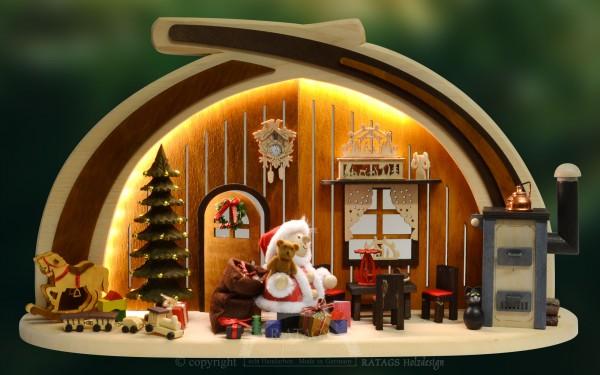 bel. Massivholzbogen Weihnachtsstube, Deko, echt Erzgebirge
