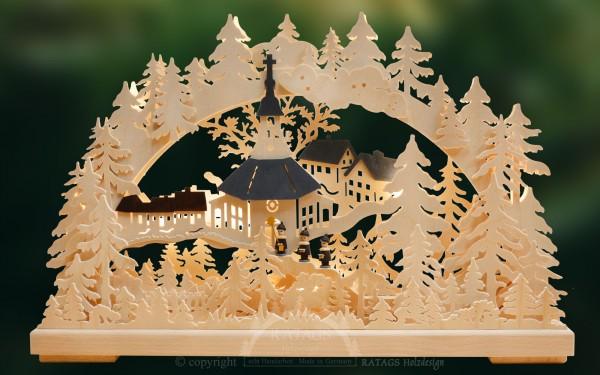 Schwibbogen Kirchberg, Weihnachten, echt Erzgebirge