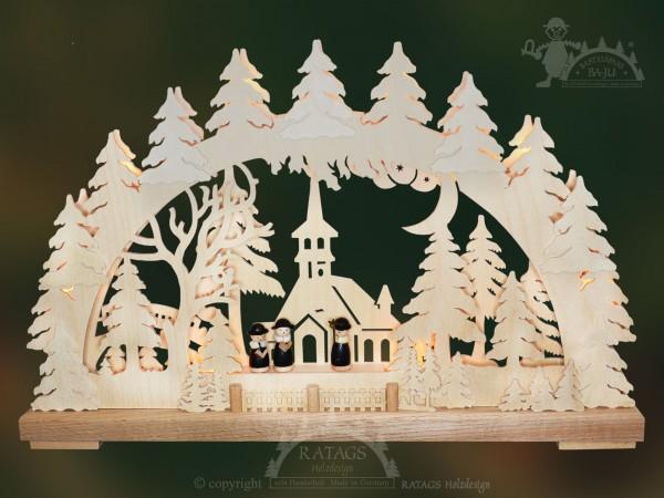 Schwibbogen Kapelle, Deko, Weihnachten, echt Erzgebirge
