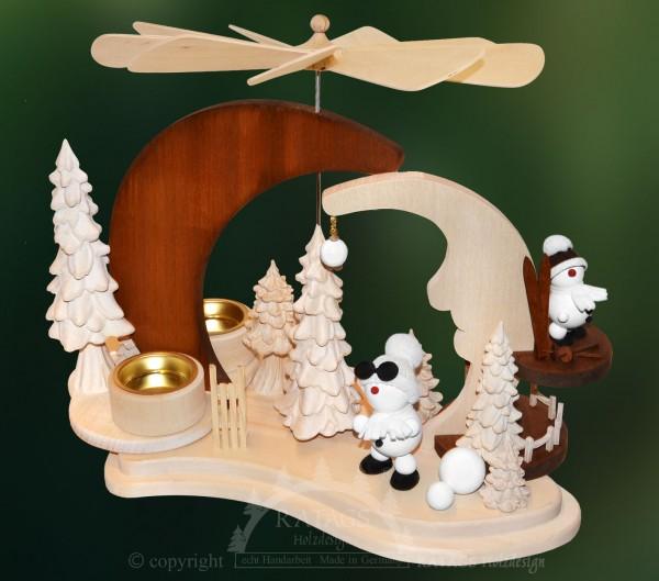 Massivholz Mondpyramide, Deko, Weihnachten, echt Erzgebirge