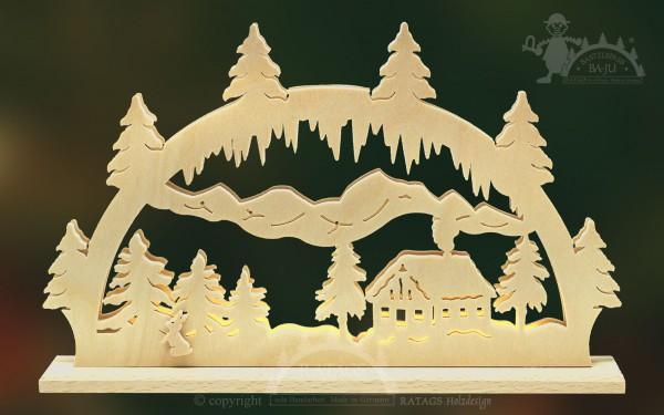 Schwibbogen Alm, Deko, Weihnachten, echt Erzgebirge