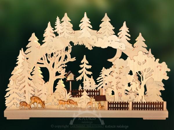Schwibbogen Auf Futtersuche, Weihnachten, echt Erzgebirge