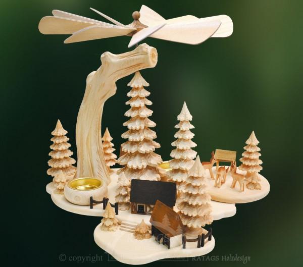 Massivholzpyramide, Weihnachten, echt Erzgebirge
