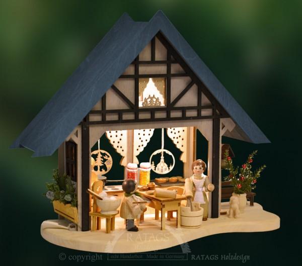 LED Backstube für Tisch, Deko, Weihnachten, echt Erzgebirge
