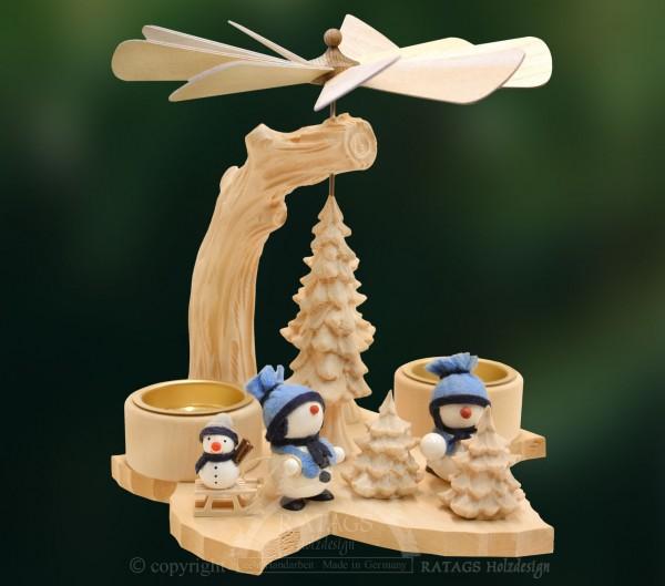 Blattpyramide, Deko, Weihnachten, echt Erzgebirge