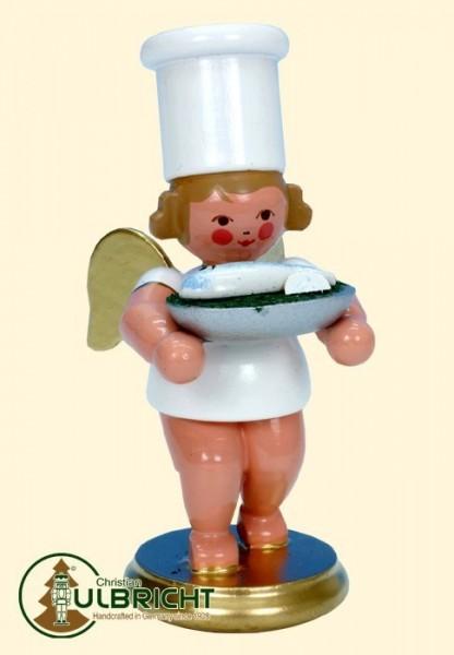 Figur, Kochengel mit Fisch