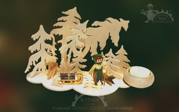 Tischschmuck Windbruch, Deko, Weihnachten, echt Erzgebirge