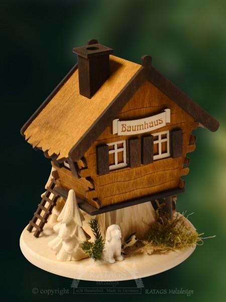 Raeucherhaus, Baumhaus, Weihnachten, echt Erzgebirge