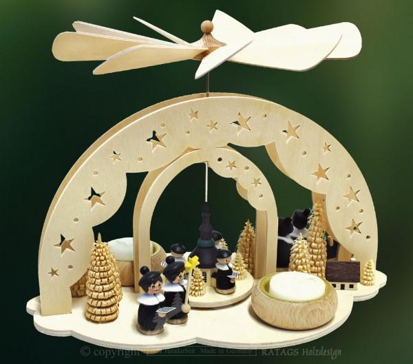 Sternbogenpyramide, Weihnachten, Deko, echt Erzgebirge