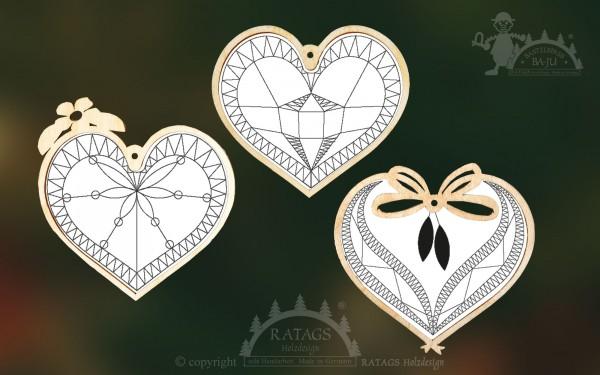 Kloeppeln, Herzen, Hochzeit, Deko