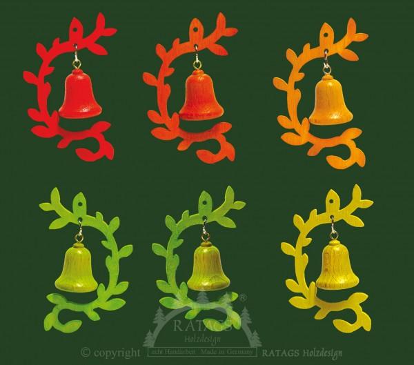 Baumbehang, farbig, Glocke, Zweig