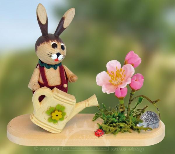 H=E4schen mit Gie=DFkanne und Blumen, echt Erzgebirge