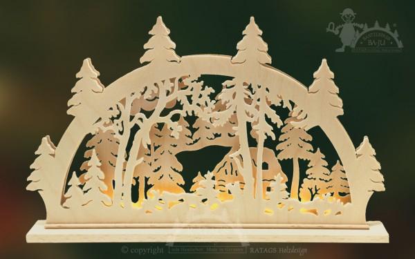 Schwibbogen Haus, Deko, Weihnachten, echt Erzgebirge
