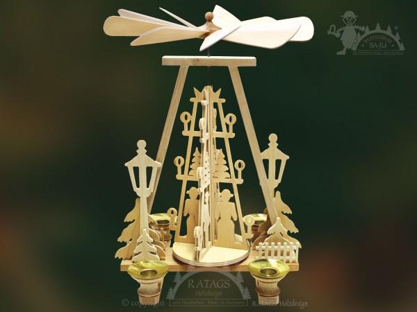 Trapez Pyramide, Deko, Weihnachten, echt Erzgebirge