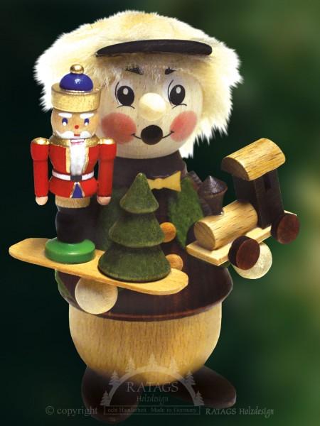 Raeuchermann mit Nußknacker, Weihnachten, echt Erzgebirge