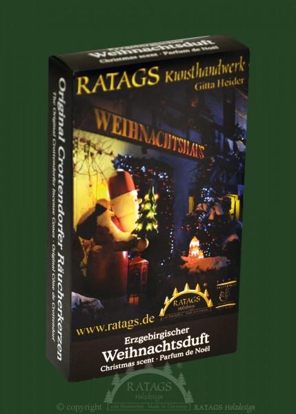 Raeucherkerzen, Weihnachtsduft, echt Erzgebirge
