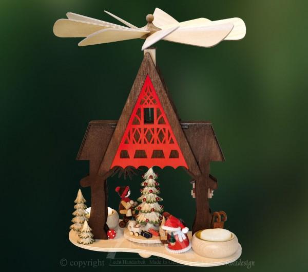 Pyramide Fachwerkhaus, Deko, Weihnachten, echt Erzgebirge