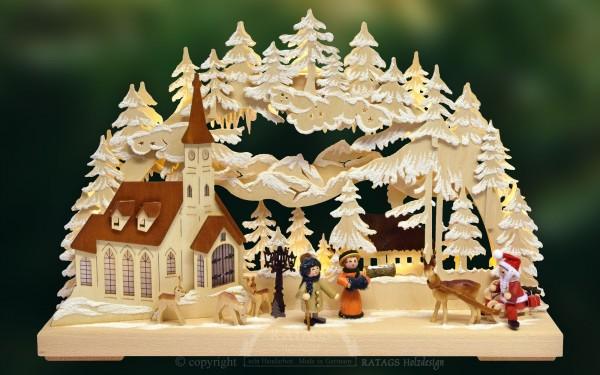 3D-Schwibbogen kl., Weihnachtsmorgen, Erzgebirge
