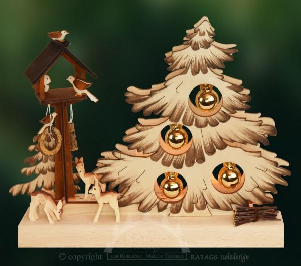 Tischschmuck Tannenbaum, Weihnachten, echt Erzgebirge