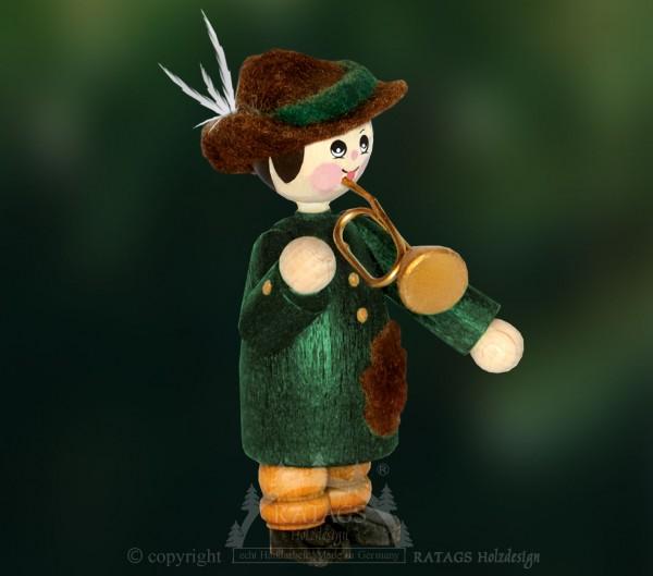 Figur, Förster mit Trompete, Wald