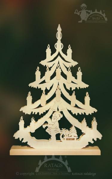 Tanne Weihnachtsmann zum basteln mittel, echt Erzgebirge