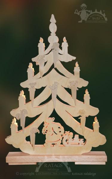 Tanne Weihnachtsmann, Deko Weihnachten, echt Erzgebirge