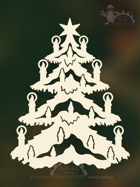 unbeleuchtetes Fensterbild Deko Weihnachten, echt Erzgebirge