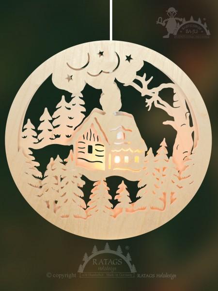 Fensterbild zum Basteln, Weihnacht, Erzgebirge