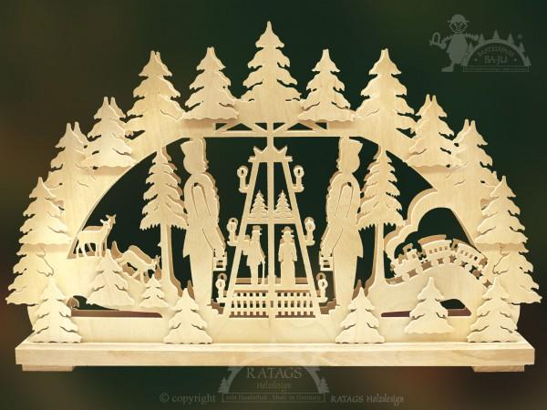 Schwibbogen Pyramide, Deko, Weihnachten, echt Erzgebirge