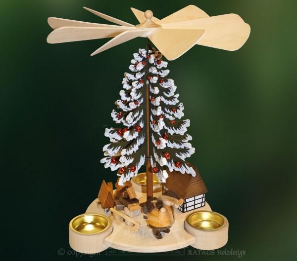 Baumpyramide, Deko, Weihnachten, echt Erzgebirge, Holz