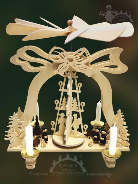 Glockenpyramide Kurrende, Deko, Weihnachten, echt Erzgebirge