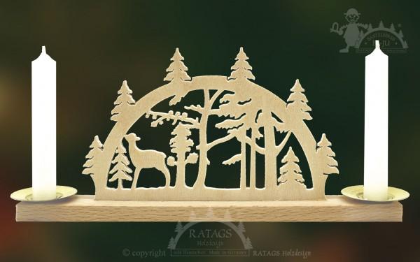Mini Schwibbogen Waldesruh, Weihnachten, echt Erzgebirge