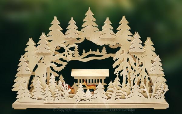 Schwibbogen Rehgruppe, Deko, Weihnachten, echt Erzgebirge
