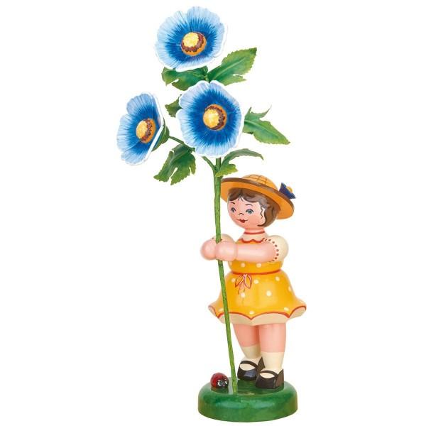 Blumenkind Mädchen Malve