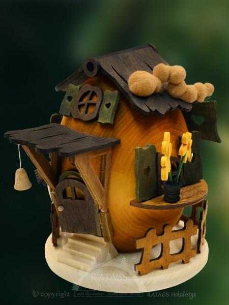 Raeucherhaus Raupennest, Deko Weihnachten, echt Erzgebirge