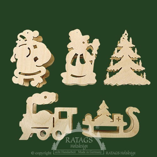 Baumbeleuchtung, Deko, Aufsteckstern, natur, Figuren, mini