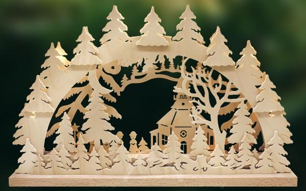 Schwibbogen Mondschein, Weihnachten, echt Erzgebirge