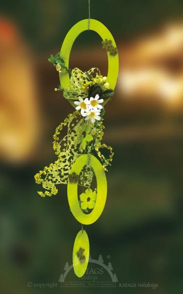 floristischer Behang Frühling, echt Erzgebirge
