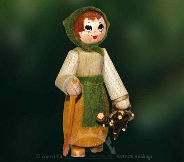 Figur, Waldfrau mit Stock und Reisig