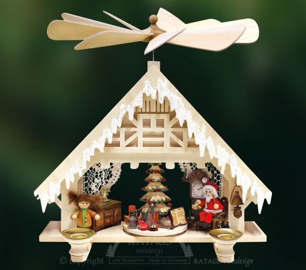 Hauspyramide, Deko, Weihnachten, echt Erzgebirge